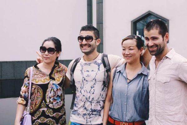 Photo with random Chinese girls