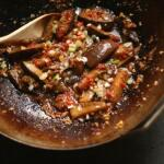 Chinese stir fried aubergine