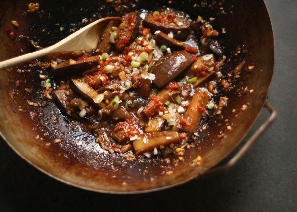 Chinese stir fried aubergine