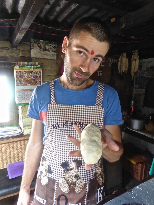 Sebastien and the momo dough