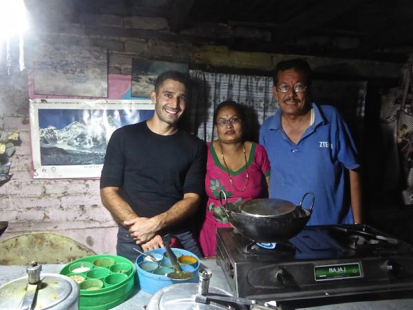 Celebrating Stefan's birthday with the excellent Nepalese Cooking School