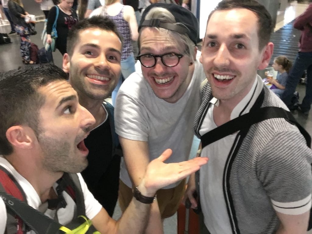 Gay travel bloggers Nomadic Boys with Gastro Gays