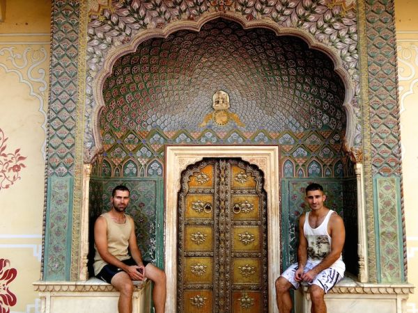 Travelling in Asia as a gay couple Jaipur India Rajesthan
