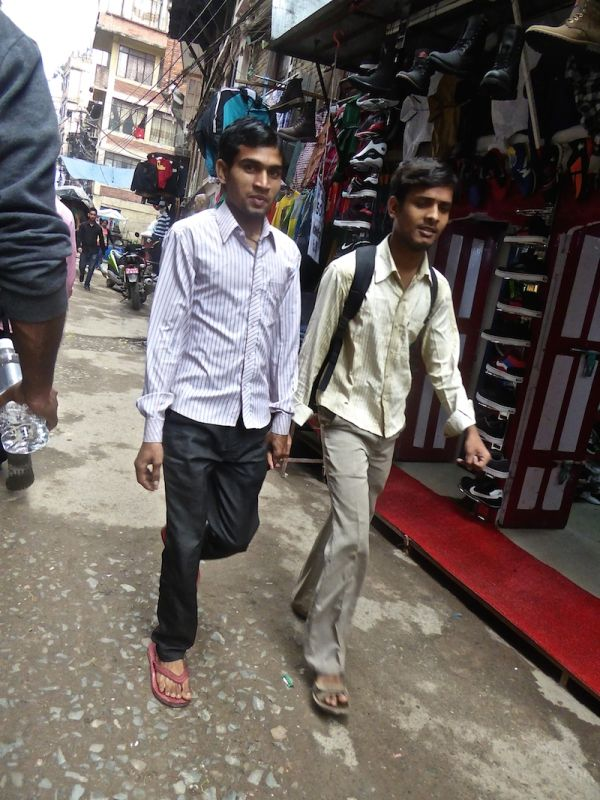 Nepalese boys in public
