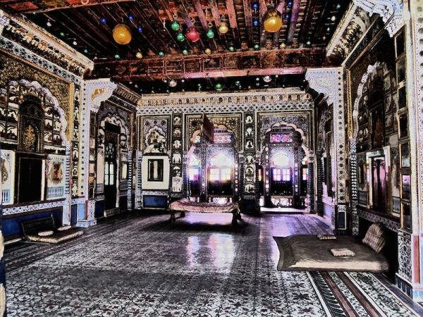The interior of the Mehrangarh Fort