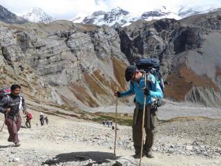 Sebastien admiring the views from Thorong La Pass