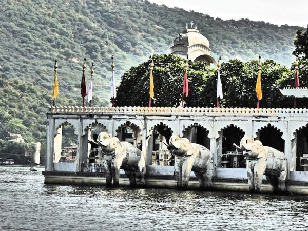 The Lake Palace island in Udaipur