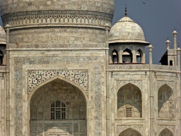 Close up of the Taj Mahal