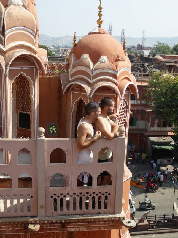 View of the Pink City from Hawa Mahal