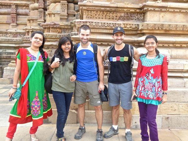 Love hate India animated charismatic people at Khajuraho temple