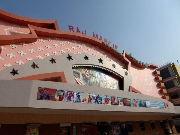 The popular Raj Mandir cinema in Jaipur