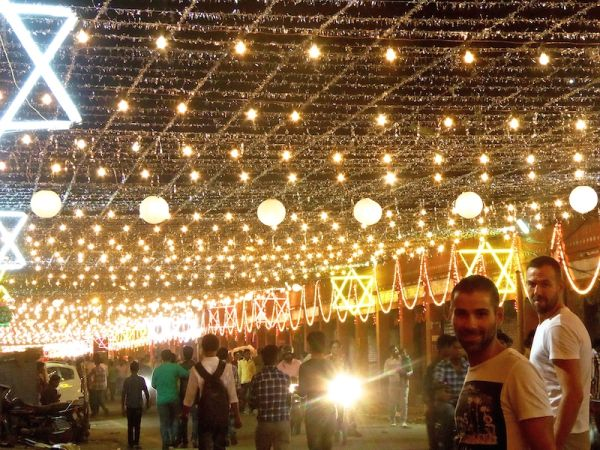 Hate love India colourful Jaipur during Diwali