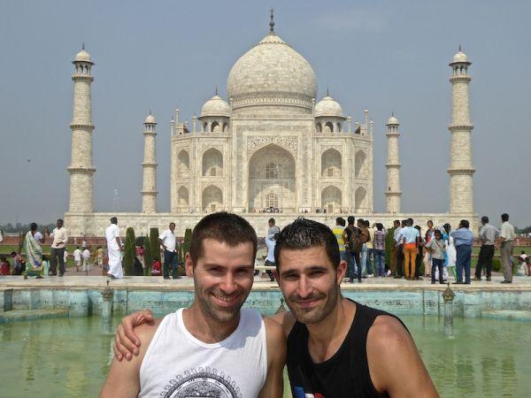 Nomadic Boys at the Taj Mahal