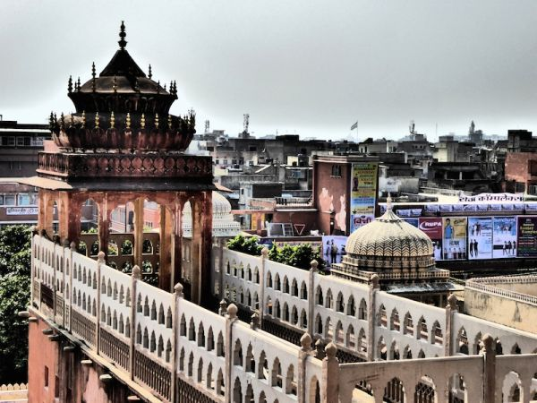 The views of the Pink City from the Hawa Mahal Palace