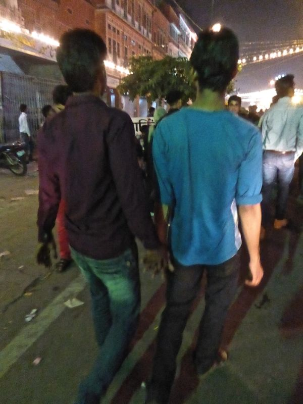 Gay India boys holding hands in public Jaipur