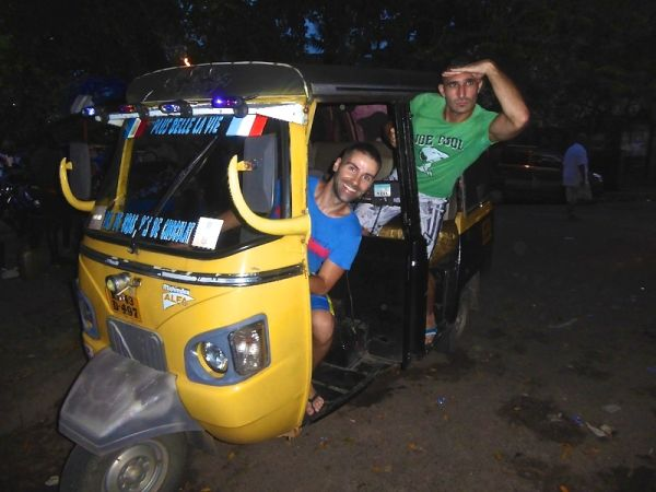 Travelling as a gay couple in Asia India tuk tuk Delhi