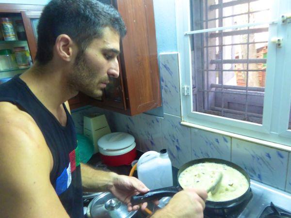 Stefan cooking Fish molee