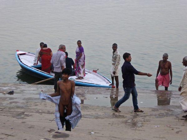 Indian guys bathing