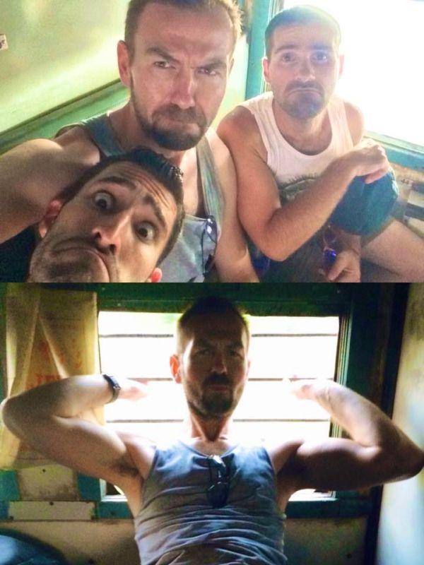 Love hate India train delay selfie