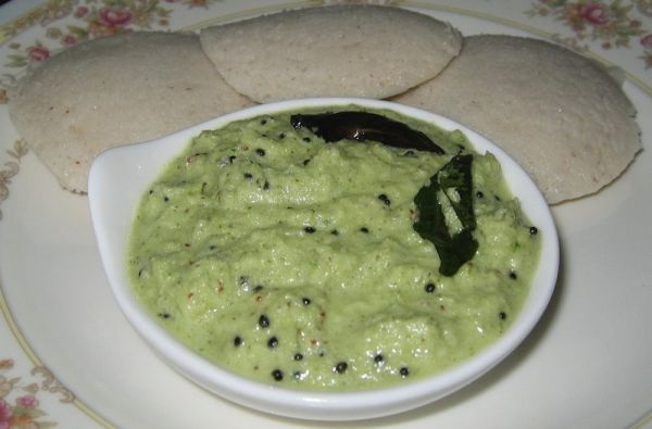 South Indian recipe for coconut chutney