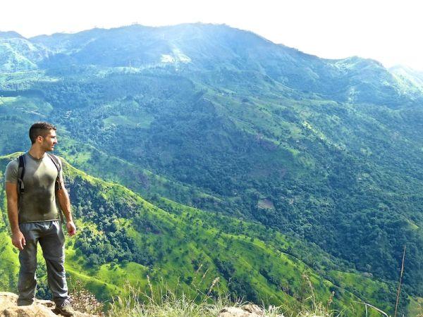 Stefan at the peak of Ella Rock