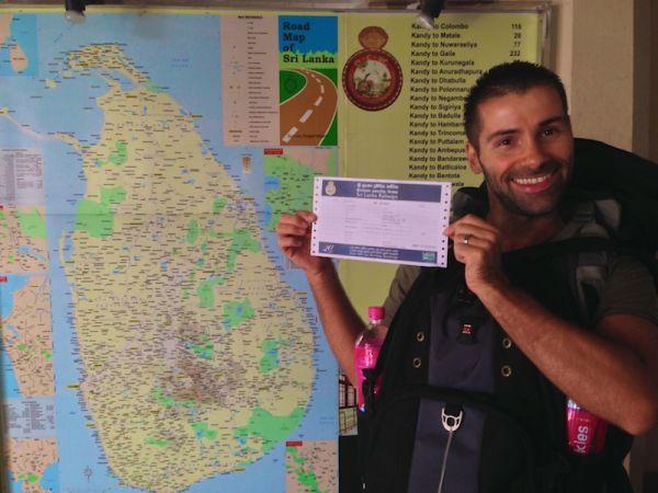 Sebastien with his train ticket