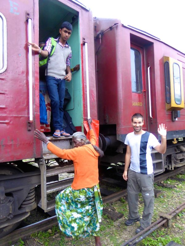 People boarding our train