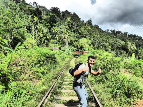 Whilst trekking along the railway lines, watch out for any oncoming trains!