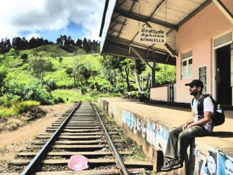 Part of the Ella Rock trek goes by the Kithaella Train Station