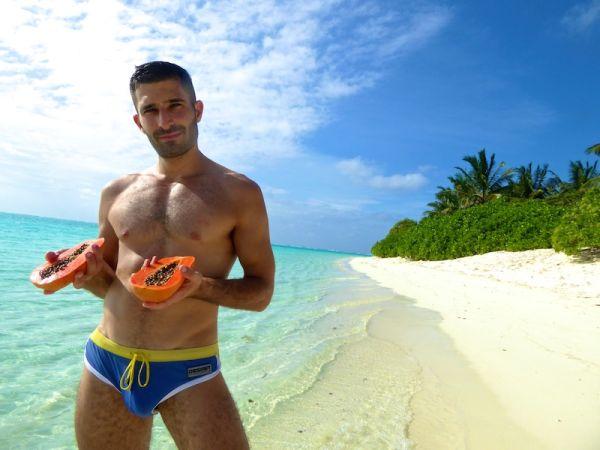 Papaya on the beach
