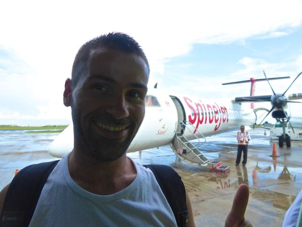 We flew with Spicejet from Kochi (south India) to Male