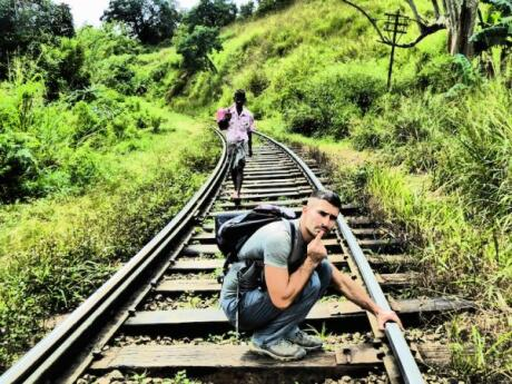Part of the trek to Ella Rock takes you along railway lines