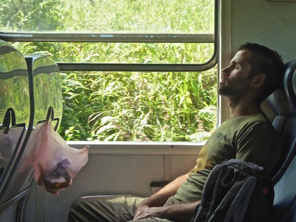Second class in a Sri Lankan train