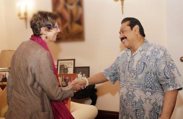 Gay politician Grete Lochen former President Mahinda Rajapaksa