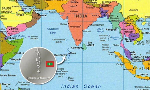 Map of Indian subcontinent