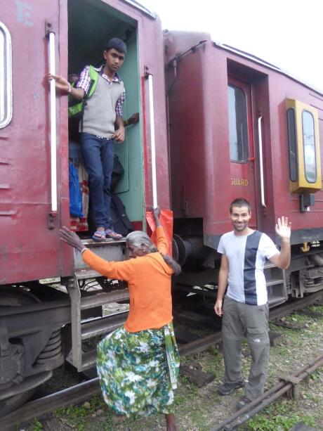 Our train ride in Sri Lanka
