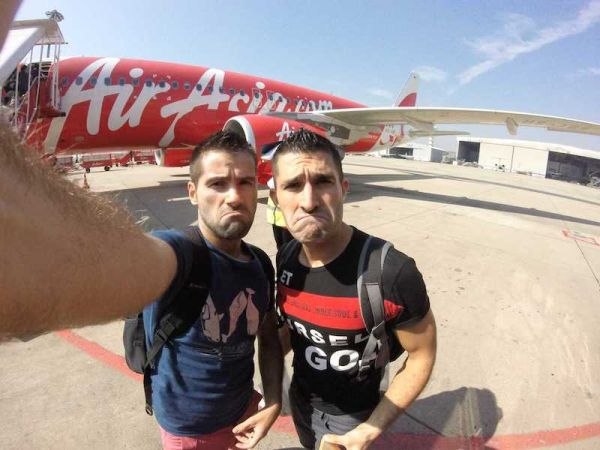Our Air Asia selfie