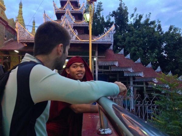 Sebastien and Dhamma at Mandalay Hill