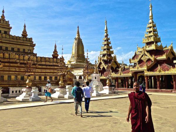 A monk at Yangon's Shwezigon Paya temple