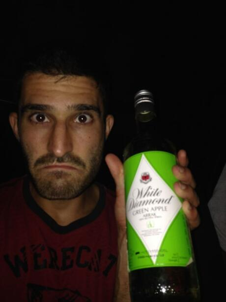 Stefan with green apple flavoured arrack