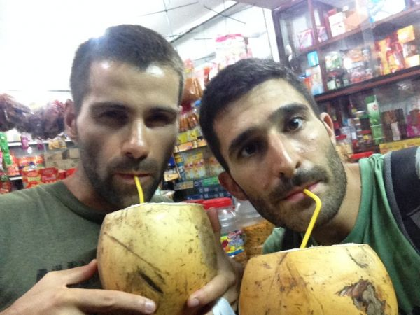 Our king coconut selfie