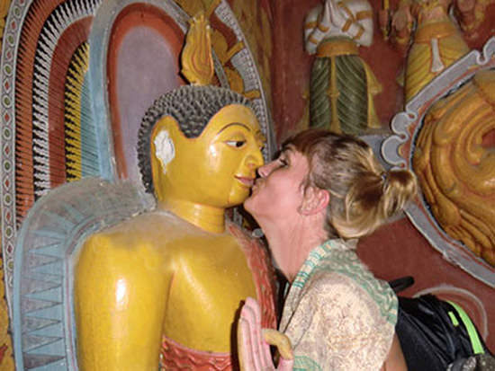 Kissing a Buddha can get you arrested