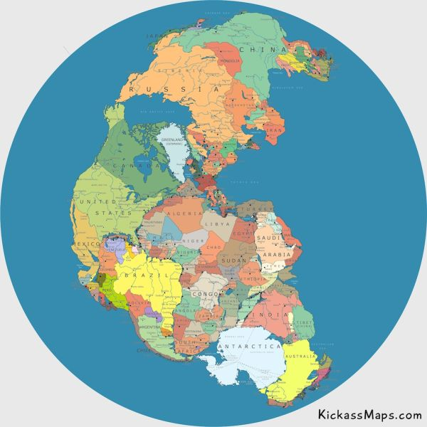 Map of old Earth: Pangea