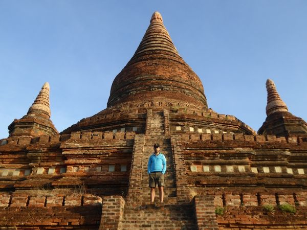 Sebastien on the Buledi pagoda