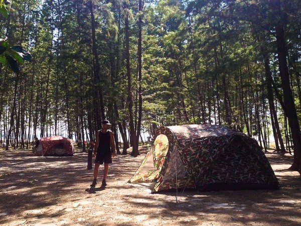 Seb in the camping forest