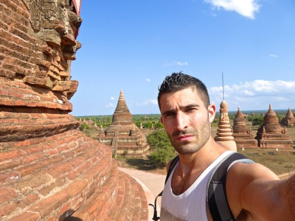 Selfie from the top of the Buledi Pagoda