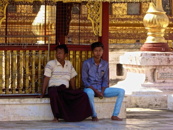 Burmese boys either wore either longyis or tight jeans