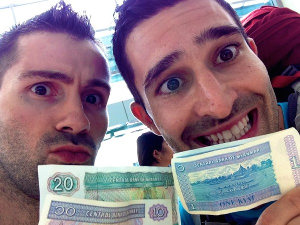 Our one kyat note selfie