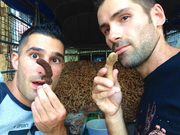 best streetfood in Thailand tamarind selfie
