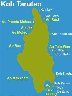 Koh Tarutao map